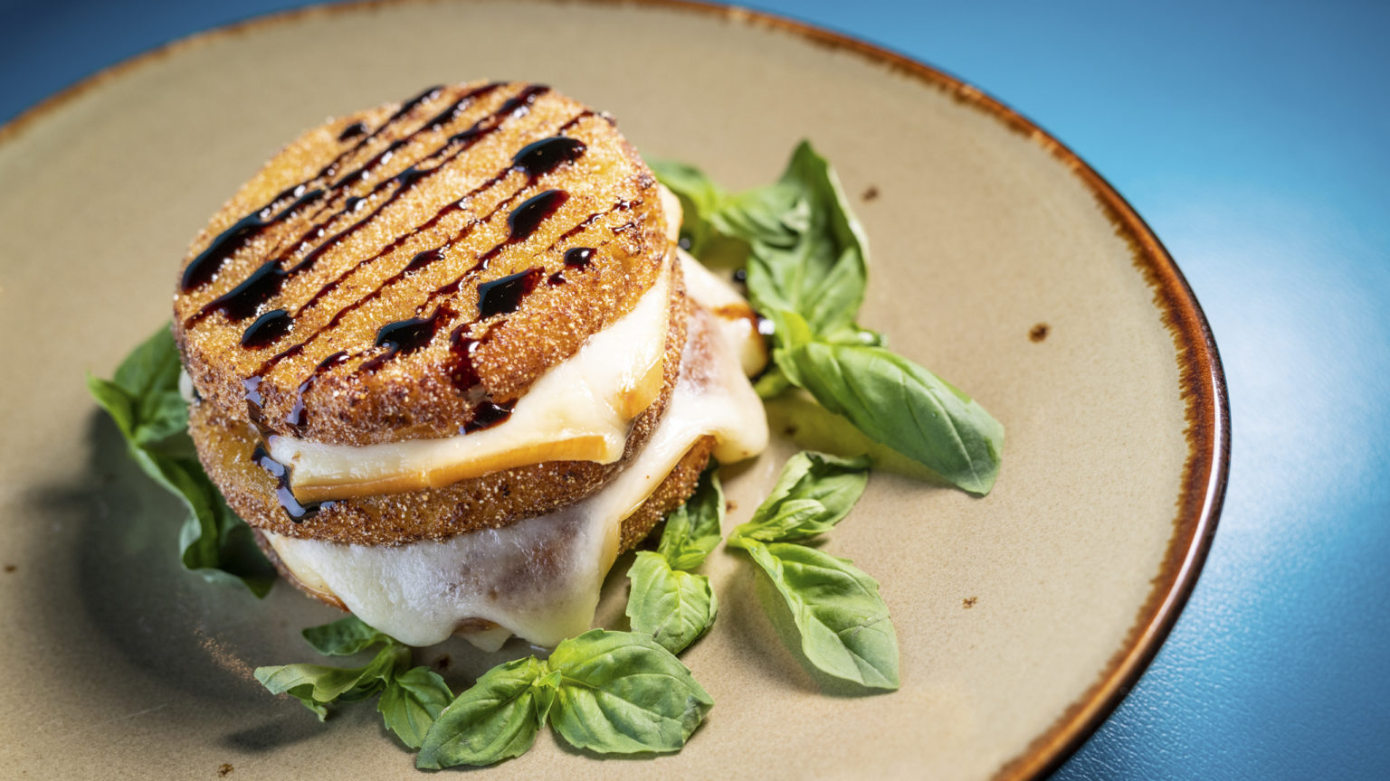Fried Green Tomato Caprese